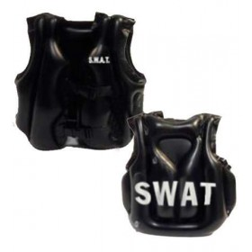 Child Size Inflatable Swat Vest Fancy Dress Accessory