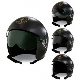Adult Jet Fighter Pilot Helmet Fancy Dress Accessory