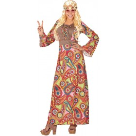 Ladies Hippie Woman (60's) Fancy Dress Costume