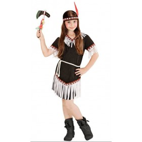 Cute Black Native American Girl Fancy Dress Costume