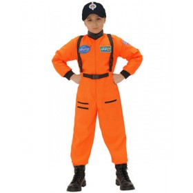 Childs Orange Astronaut Fancy Dress Costume (Cap Not Included)