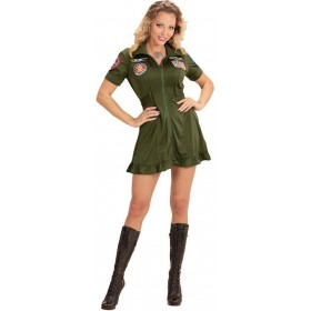 Ladies Jet Fighter Pilot Fancy Dress Costume