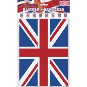 Union Jack Party Bunting 10MT Plastic Fancy Dress Accessory