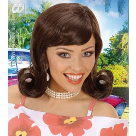 50S Flip Wigs - Brown - Fancy Dress (1950S)