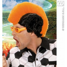 Supporter Man Wig - Orange - Fancy Dress
