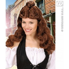 Western Belle Wig - Brown - Fancy Dress