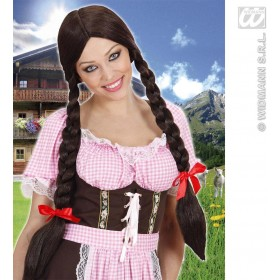 Long Plaits Wig - Brown - Fancy Dress