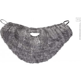 Character Beard With Moustache - Grey - Fancy Dress (Animals)