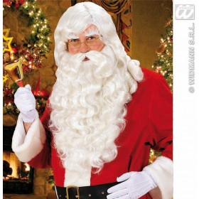 Santa Claus Wig W/Beard/Tash/Eyebrows - Fancy Dress (Animals)