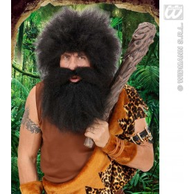 Caveman Beard In Polybag - Black - Fancy Dress