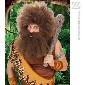 Caveman Beard In Polybag - Brown - Fancy Dress (Animals)
