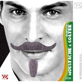 Chevalier Tash & Goatee Adhesive 3 Cols - Fancy Dress