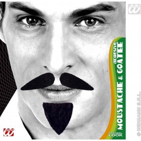 Diplomat Moustache & Goatee Black Adhesive, Fancy Dress
