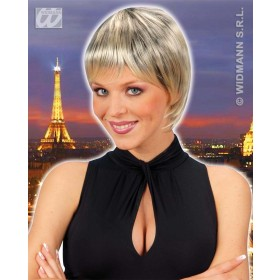 Paris Wig - Blonde/Black - Fancy Dress