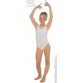 Leotard No Sleeves Child White Fancy Dress Costume