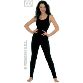Lady Bodysuit W/Out Sleeves Black Fancy Dress Costume