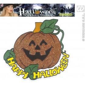 Happy Halloween Pumpkin Window Sticker 25Cm Fancy Dress (Halloween)