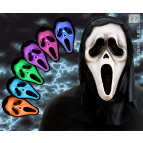 Hooded Ghost Masks W/Multicolor Light - Fancy Dress (Halloween)