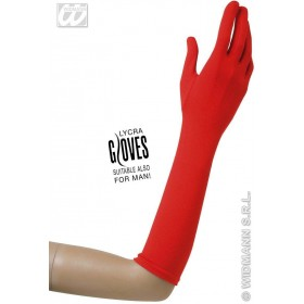 Gloves Lycra 37Cm - Red - Fancy Dress