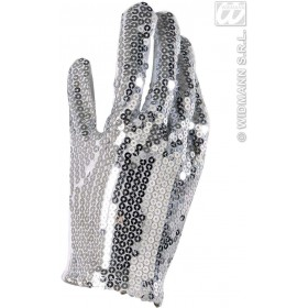 Silver Sequin Glove - Fancy Dress