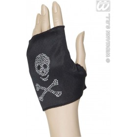 Skull Glovelette Strass - Fancy Dress