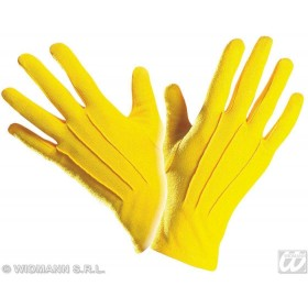 Gloves Short Yellow - Fancy Dress