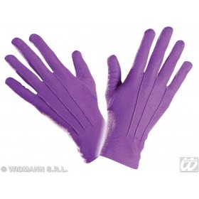 Gloves Short Purple - Fancy Dress
