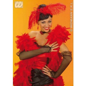 Saloon Gal Gloves 33Cm Black - Fancy Dress