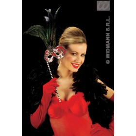 Gloves Velvet Red 56Cm - Fancy Dress