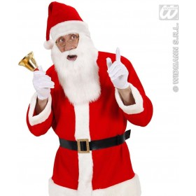 Plush Santa Claus Hat With Beard - Fancy Dress (Christmas)