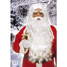 Santa Claus Wig Beard Set Deluxe Fancy Dress Costume (Christmas)