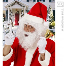 Santa Claus Curly Wig+Beard+Eyebrows Costume (Christmas)