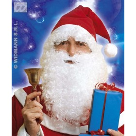 Santa Hat With Hair Beard Eyebrows - Fancy Dress (Christmas)