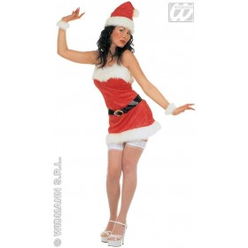 Velvet Miss Santa - Dress, Belt, Hat Costume Ladies (Christmas)
