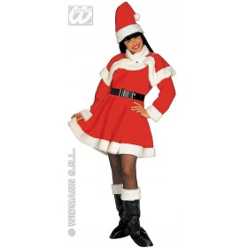 Lady Santa Deluxe Fancy Dress Costume Ladies (Christmas)