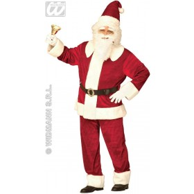 Super Deluxe Santa Suit Velvet Fancy Dress Costume (Christmas)