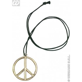 Hippie Medallion Metal - Fancy Dress (1960S)