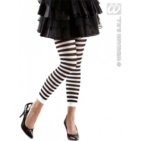 Leggings Striped Black - White - 70 Den - Fancy Dress