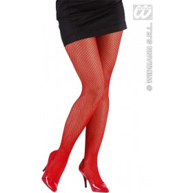 Xl Fishnet Pantyhose - Red - Fancy Dress (Christmas)