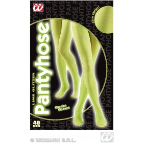 Pantyhose Glitter 40 Denier Lime - Fancy Dress