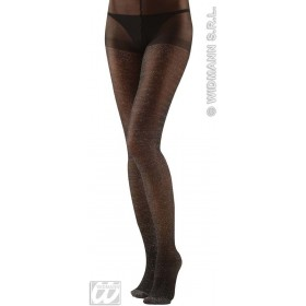 Xl Pantyhose Glitter 40 Denier Black - Fancy Dress