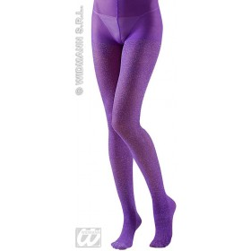 Xl Pantyhose Glitter 40 Denier Purple - Fancy Dress