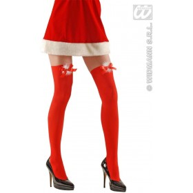 Xl Miss Santa Thigh Highs 70 Den - Fancy Dress (Christmas)