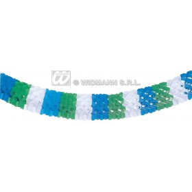 Tricolour Paper Garlands 18Cm 4M - Fancy Dress