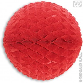 Honeycomb China Red Paper Balls 33Cm Diam - Fancy Dress