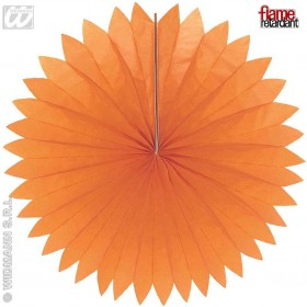 Unicolour Paper Fans 75Cm 6 Cols Flame Ret, Fancy Dress