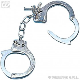 Metal Handcuffs With Key - Fancy Dress