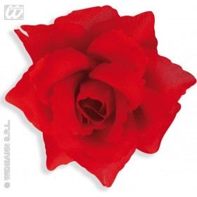 Red Rose Brooch - Fancy Dress