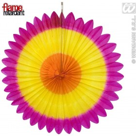 Tricolor Paper Fans 3Cols Flame Ret - Fancy Dress
