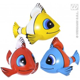 Inflat.Tropical Fish 60Cm - 3Colors Ass. - Fancy Dress